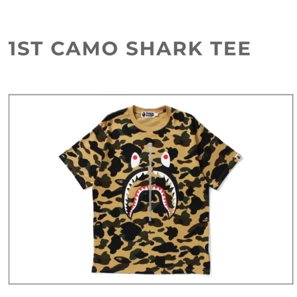 5f32d0df Bape Shirts | A Bathing Ape 1st Camo Shark Tee | Poshmark